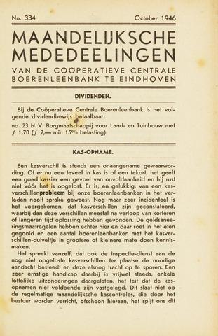 blad 'Maandelijkse Mededelingen' (CCB) 1946-10-01