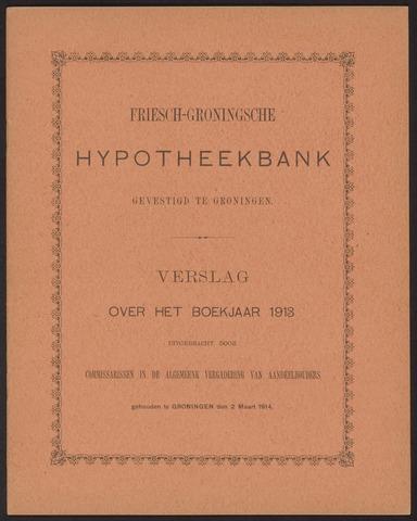Jaarverslagen Friesch-Groningsche Hypotheekbank / FGH Bank 1913