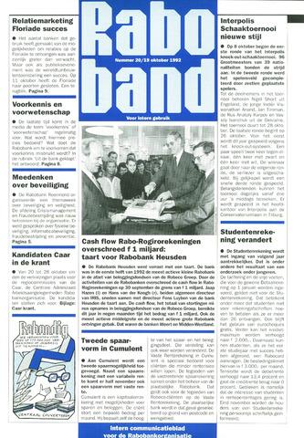 blad 'Raboband' 1992-10-19