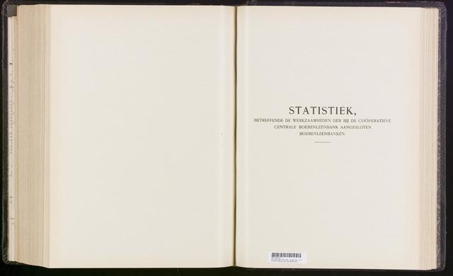 Statistiek aangesloten banken CCB 1913-12-31