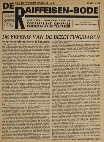 blad 'De Raiffeisen-bode' (CCRB) 1945-07-16