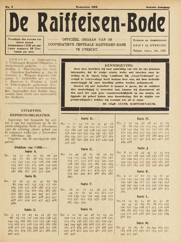 blad 'De Raiffeisen-bode' (CCRB) 1922-12-01