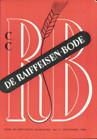 blad 'De Raiffeisen-bode' (CCRB) 1949-11-01