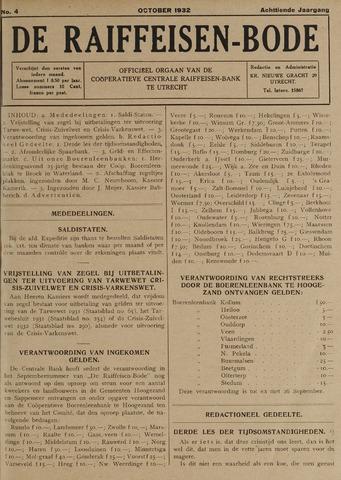 blad 'De Raiffeisen-bode' (CCRB) 1932-10-01