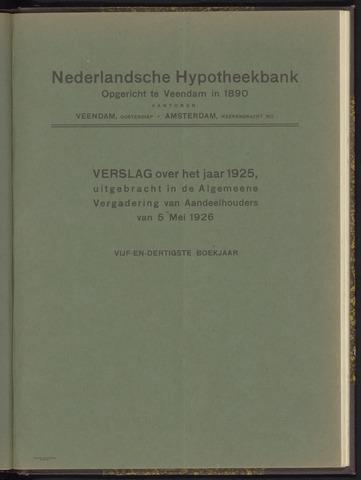 Jaarverslagen Nederlandsche Hypotheekbank 1925