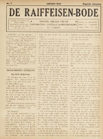 blad 'De Raiffeisen-bode' (CCRB) 1924-01-01