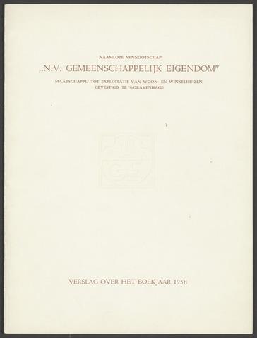 Jaarverslagen Gemeenschappelijk Eigendom 1958-01-01