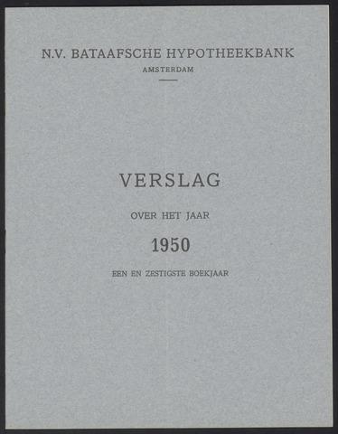 Jaarverslagen Bataafsche Hypotheekbank 1950