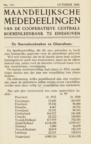 blad 'Maandelijkse Mededelingen' (CCB) 1930-10-01