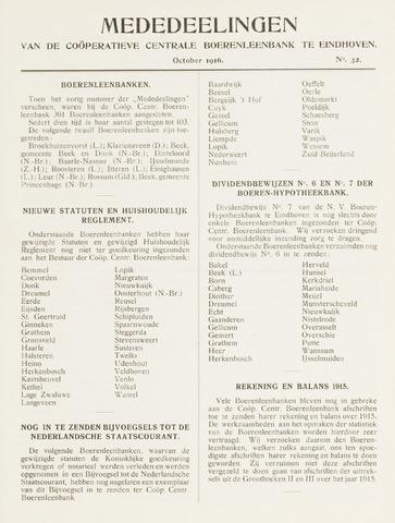 blad 'Mededeelingen' (CCB) 1916-10-01