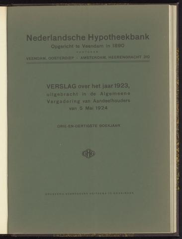 Jaarverslagen Nederlandsche Hypotheekbank 1923