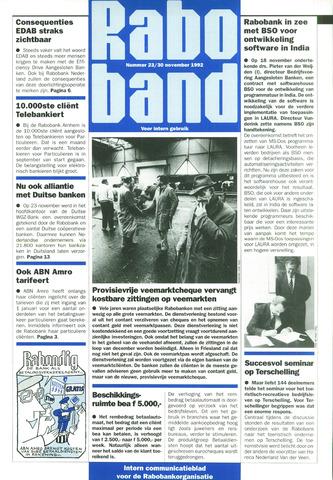 blad 'Raboband' 1992-11-30