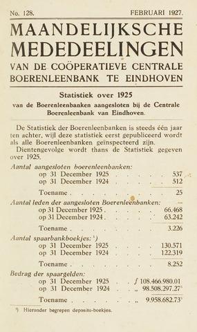 blad 'Maandelijkse Mededelingen' (CCB) 1927-02-01