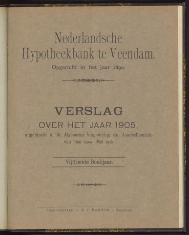 Jaarverslagen Nederlandsche Hypotheekbank 1905