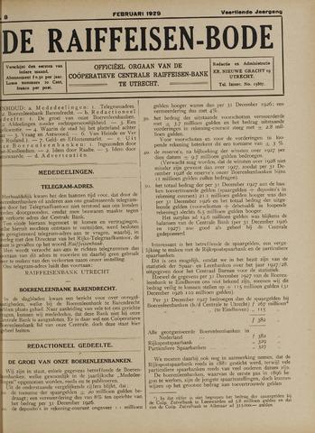 blad 'De Raiffeisen-bode' (CCRB) 1929-02-01