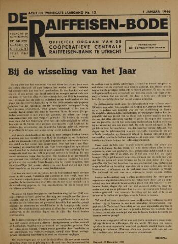 blad 'De Raiffeisen-bode' (CCRB) 1946-01-01