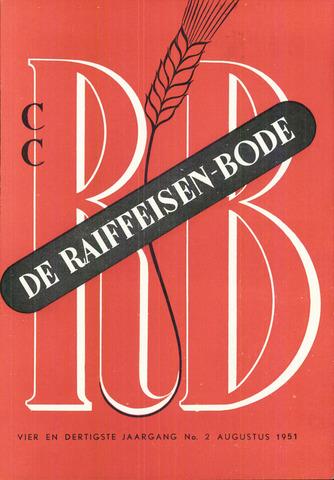 blad 'De Raiffeisen-bode' (CCRB) 1951-08-01