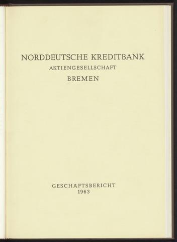 Geschäftsberichte Norddeutsche Kreditbank 1963-01-01