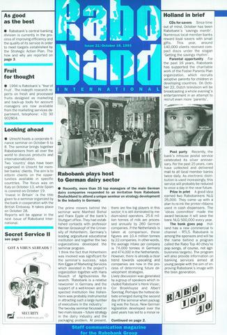 blad 'Raboband International' (EN) 1993-10-18