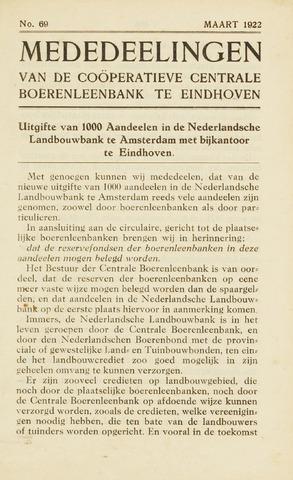 blad 'Maandelijkse Mededelingen' (CCB) 1922-03-01