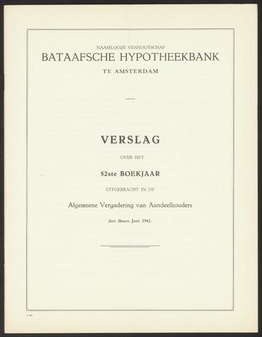 Jaarverslagen Bataafsche Hypotheekbank 1941