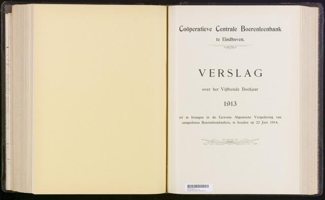 Jaarverslagen Coöperatieve Centrale Boerenleenbank 1913-12-31