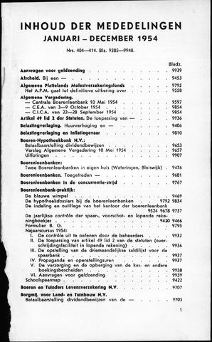 blad 'Maandelijkse Mededelingen' (CCB) 1954