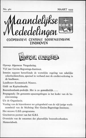 blad 'Maandelijkse Mededelingen' (CCB) 1959-03-01