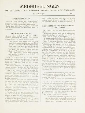 blad 'Mededeelingen' (CCB) 1913-12-01