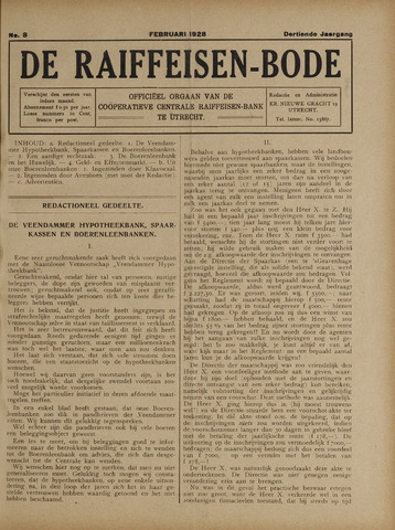 blad 'De Raiffeisen-bode' (CCRB) 1928-02-01