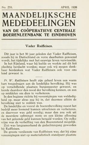 blad 'Maandelijkse Mededelingen' (CCB) 1938-04-01