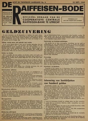blad 'De Raiffeisen-bode' (CCRB) 1945-09-22