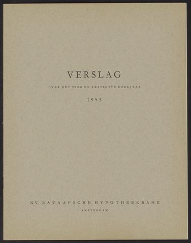 Jaarverslagen Bataafsche Hypotheekbank 1953