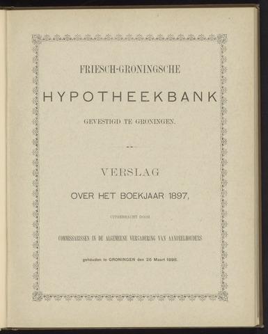 Jaarverslagen Friesch-Groningsche Hypotheekbank / FGH Bank 1897