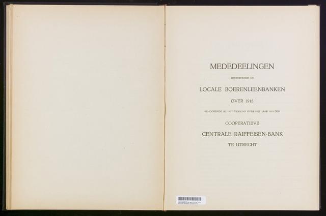 Mededelingen lokale banken CCRB 1918-12-31