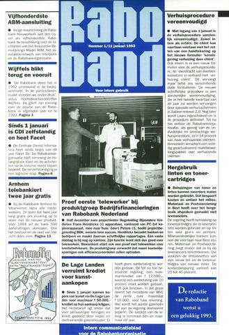 blad 'Raboband' 1993