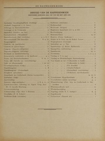 blad 'De Raiffeisen-bode' (CCRB) 1927-07-01