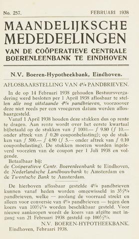 blad 'Maandelijkse Mededelingen' (CCB) 1938-02-01