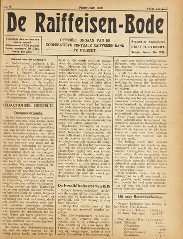 blad 'De Raiffeisen-bode' (CCRB) 1920-02-01