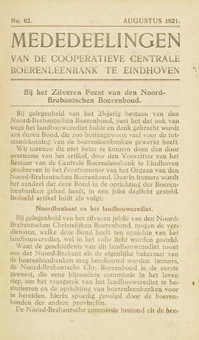 blad 'Maandelijkse Mededelingen' (CCB) 1921-08-01