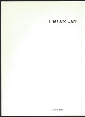 Jaarverslagen Friesland Bank 1988