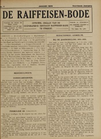blad 'De Raiffeisen-bode' (CCRB) 1929
