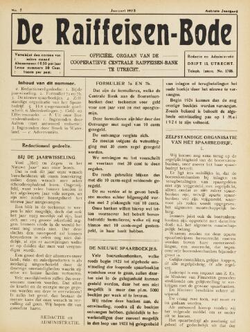 blad 'De Raiffeisen-bode' (CCRB) 1923-01-01