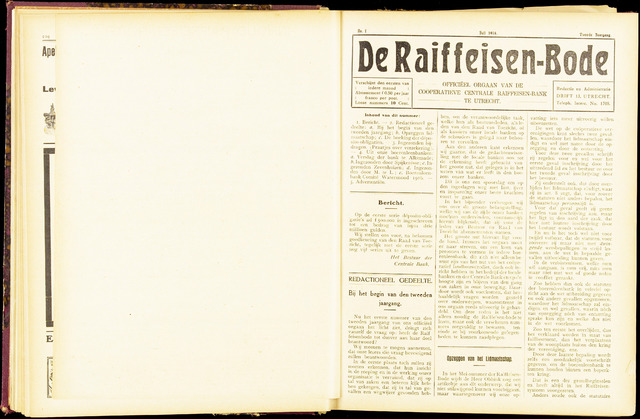 blad 'De Raiffeisen-bode' (CCRB) 1916-07-01