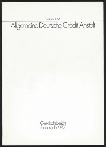 Geschäftsberichte Allgemeine Deutsche Credit-Anstalt / ADCA Bank 1977-01-01