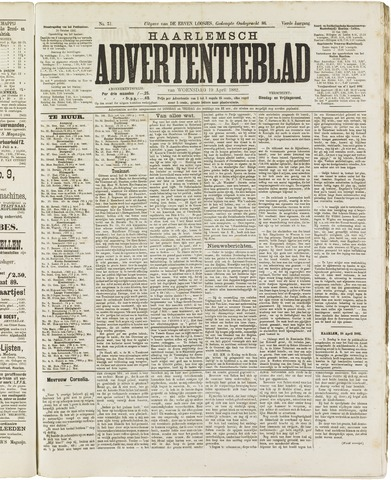 Haarlemsch Advertentieblad 1882-04-19