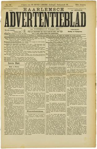 Haarlemsch Advertentieblad 1889-02-27