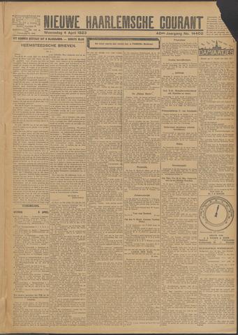 Nieuwe Haarlemsche Courant 1923-04-04