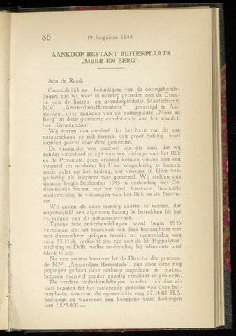 Raadsnotulen Heemstede 1948-08-19