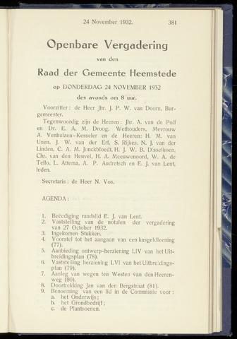 Raadsnotulen Heemstede 1932-11-24